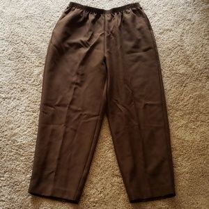 Womens alfred dunner 16W brown pants